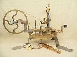 Swiss wheel cutting engine, 2nd half of 19th cent., complete with accessories - after restoration (other view)